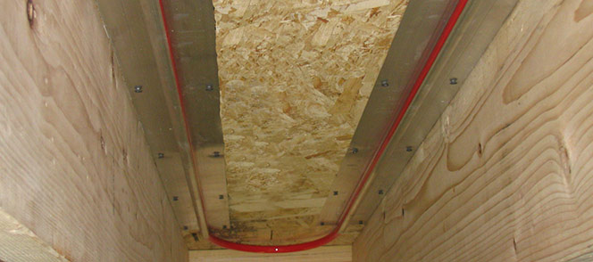 Radiant trak for Warmboard alternative