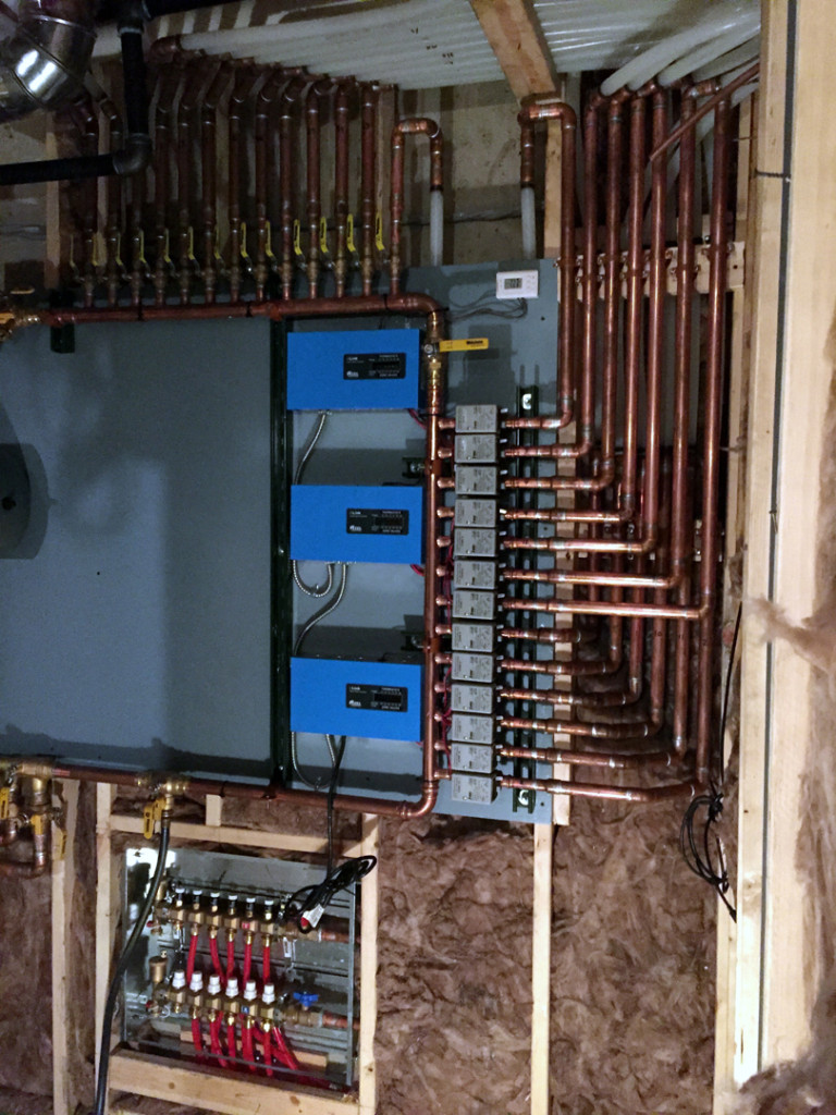 Infloor's Largest Custom Mechanical Board made for Michigan Energy Services for a residential application.